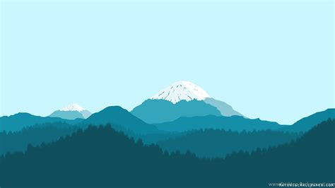 blue mountain material design wallpapers collection