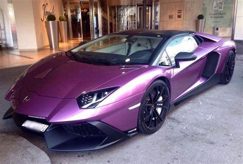 purple aventador  anniversary spotted  geneva