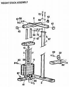 Weider E5500 Weight System Parts