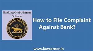 How To File Complaint Against Bank