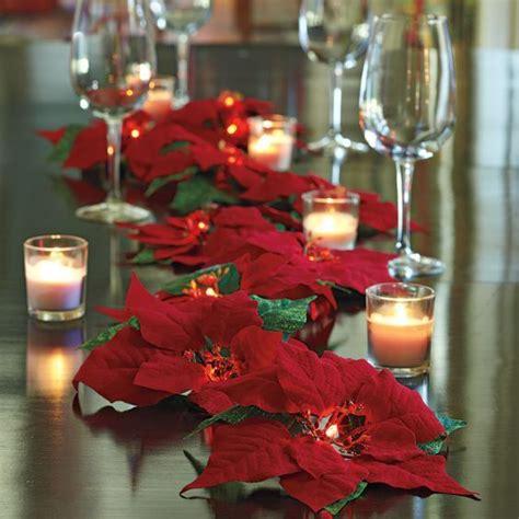 espectaculares centros de mesa  flor de nochebuena