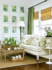 fresh cottage house interior how to use green in black white room