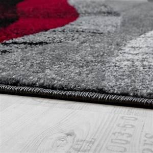 Tapis Gris Poil Ras : tapis design moderne poils ras vagues effet abstrait gris noir rouge tous les produits ~ Teatrodelosmanantiales.com Idées de Décoration