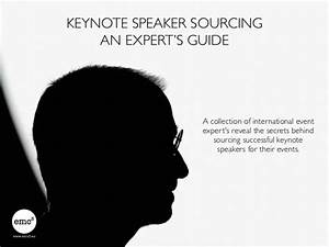 Keynote Speaker Sourcing: An Expert's Guide