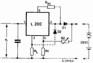 l200 typical application reference design dc to dc With constant current battery charger circuit this is a adjustable constant