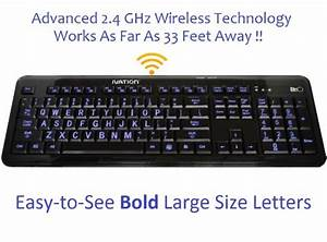 ivation wireless letter illuminated large print full size With large letter wireless keyboard