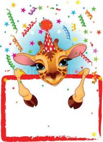 clipart fødselsdag fødselsdagsfest invitation vektor