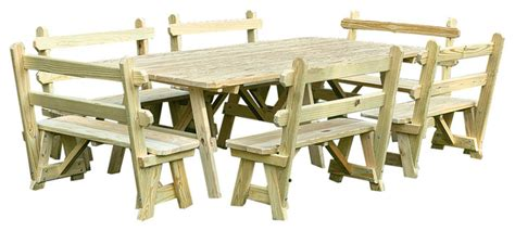 unfinished picnic tables for sale furniture barn usa unfinished pressure treated pine 4 39 x8
