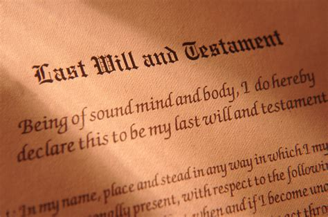 legalities       testament