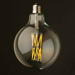 Edison Bulb Track Lighting by 11 Watt Dimmable Filament Led E27 Clear 125mm Round Bulb