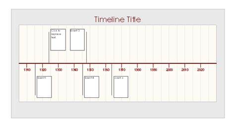 microsoft timeline template timelines office