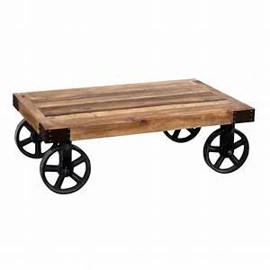 Tavolino Industrial Con Ruote