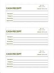 sample receipt template    documents