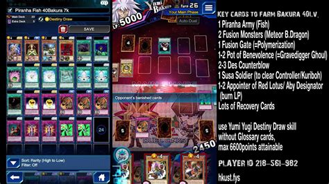 duel links farm lv40 yami bakura without union attack