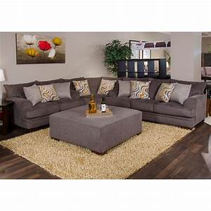 Jackson sectional sofa barkley 3 piece sectional in grey for Jackson furniture sectional sofa