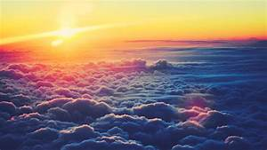 1920x1080 Sunrise Above Fluffy Clouds desktop PC and Mac wallpaper