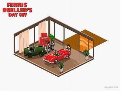 Floor Plans 80s Ferris Garage Pixel Gifs