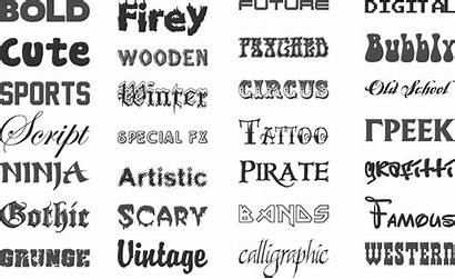 Fonts Examples Printing Font Styles Types Names