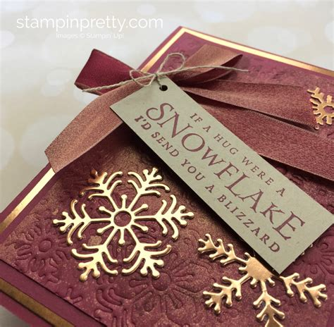 luxe beautiful blizzard holiday card stampin pretty