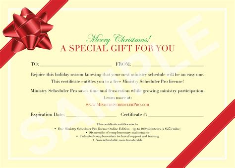 christmas gift voucher design template with red ribbon and