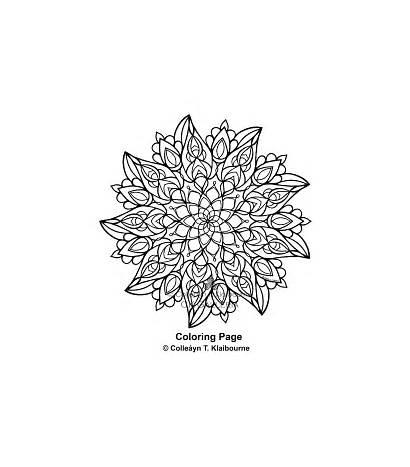 Mandala Coloring Pdf Digital Determination Watermark Unique