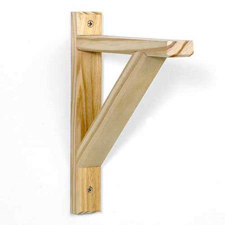 wooden shelf brackets potomac 10 5 quot x 9 quot wood shelf bracket unfinished