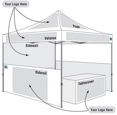 ez  canopy tent commercial  custom  digital art