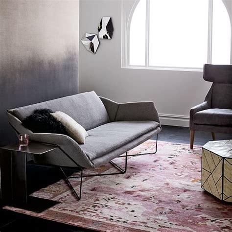 Origami Upholstered Sofa  West Elm