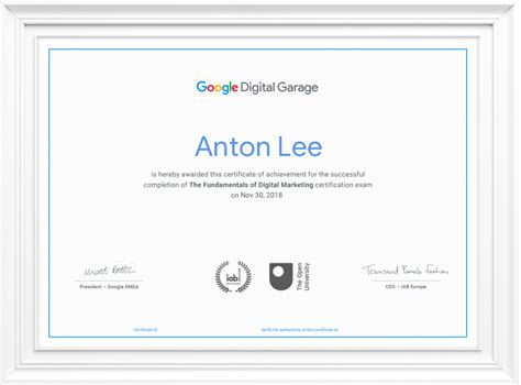 free marketing certifications fundamentals of digital marketing digital garage