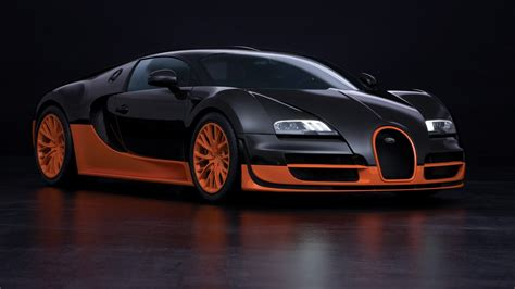 La bugatti veyron était la voiture la plus puissante et la plus rapide du monde. Bugatti Veyron Super Sport, Car, Orange Wallpapers HD / Desktop and Mobile Backgrounds