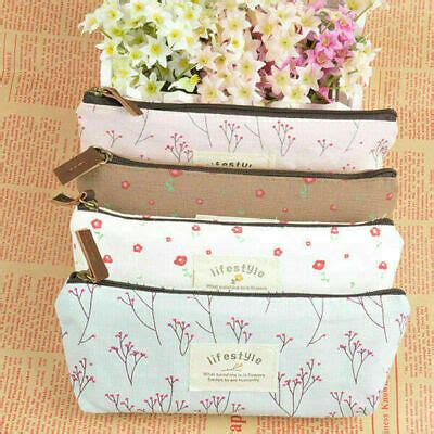 Bag floral pattern Pen Pencil Cosmetic makeup Tool Storage