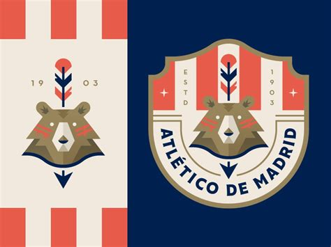 The crest/badge features the key elements of the city of madrid: Atletico Madrid by Trey Ingram on Dribbble