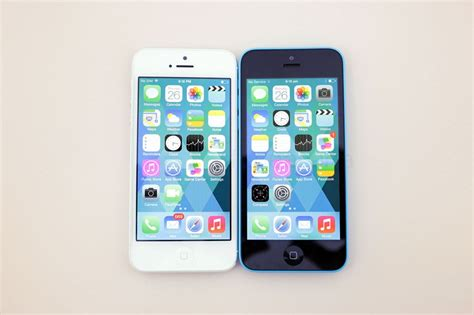 apple iphone 5c vs iphone 5 a side by side comparison of