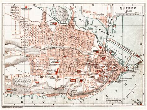 map  quebec   buy vintage map replica poster