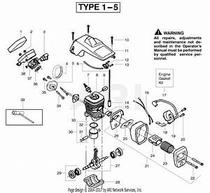 Poulan 2150 Pr Gas Chain Saw Parts Diagram For Engine Type 1