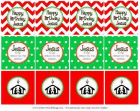 Happy Birthday Jesus Cupcake Toppers Printable
