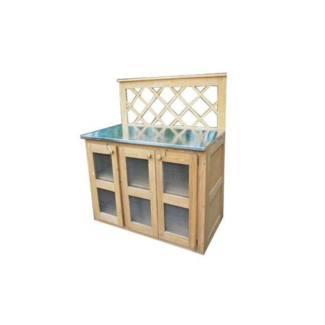 cuisine ete bois cuisine d 39 été en bois et zinc dans mobilier et meubles de