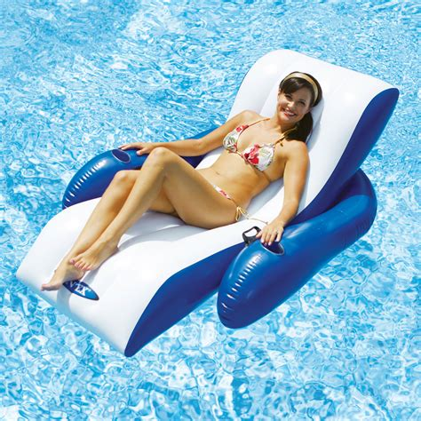 reclining pool float intex floating recliner lounge toys swimming