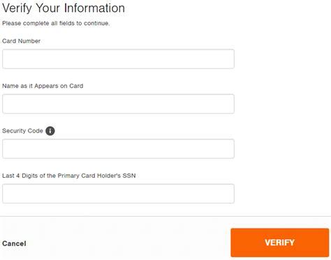 Home Depot Credit Card Login : Home Depot Consumer Credit Card Login