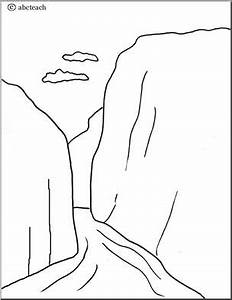 landforms coloring pages - coloring page landforms fjord abcteach