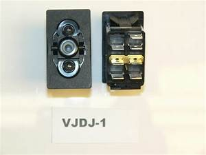 Carling On  Off  On Double Pole Rocker Switch With Jumper And Two Lamps Vjdj