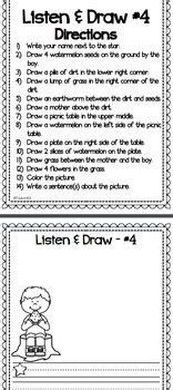 listen  draw listening comprehension activity summer