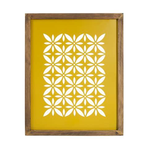 chambre gris et vert tableau en bois et métal jaune 32 x 40 cm vintage cut
