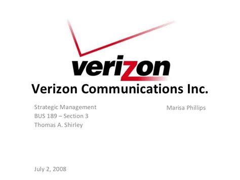 verizon strategic managment
