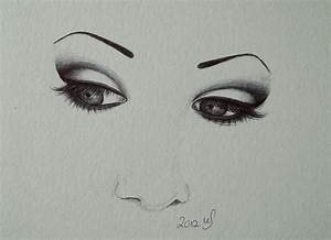 Easy Sad Eyes Drawing