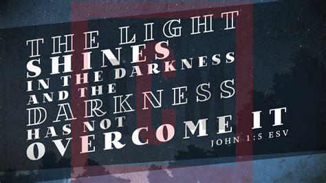 Free Sermon Slide Graphic   John 1:5   The Light Shines Quality Church Media
