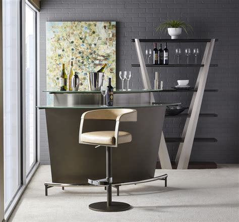 Unique Home Bar Furniture by Elite Modern Martini Bar With Frosted Glass Unique Furniture