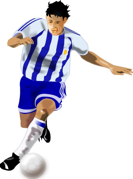 Soccer Player Clipart Futbolista Soccer Player Clip At Clker Vector