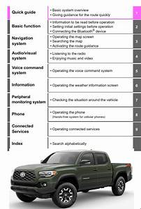 2021 Toyota Tacoma Navigation And Multimedia System Owners
