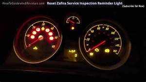 How To Turn Off    Reset Vauxhall Zafira Service Inspection